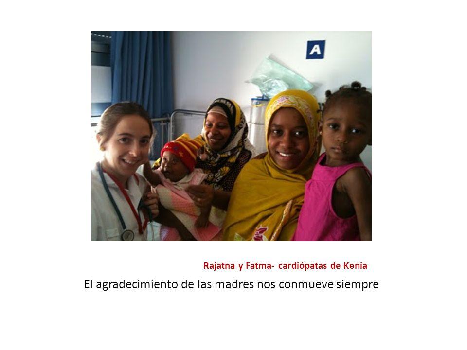 Rajatna y Fatma- cardiópatas de Kenia El agradecimiento de las madres nos conmueve siempre