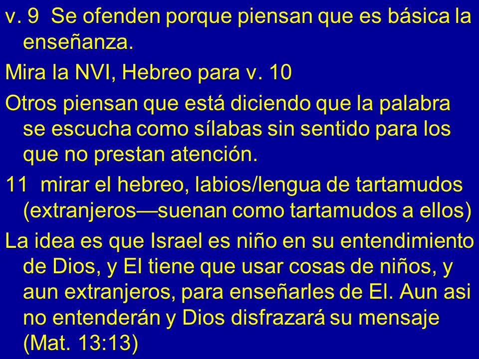 Capítulo 30 v.1 comparar ingles, español. 5013 III.
