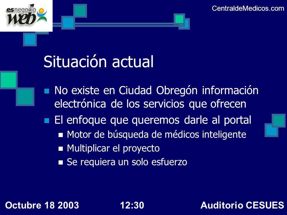 Situación actual No existe en Ciudad Obregón información electrónica de los servicios que ofrecen El enfoque que queremos darle al portal Motor de bús