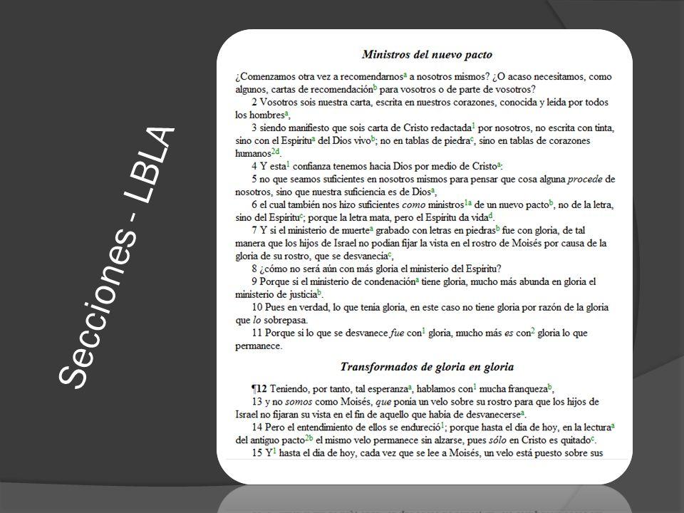 Secciones - LBLA