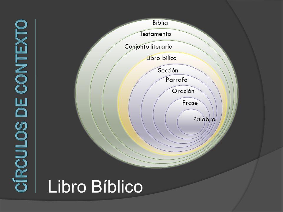 Palabra Frase Oración Párrafo Sección Libro bilico Conjunto literario Testamento Biblia Libro Bíblico