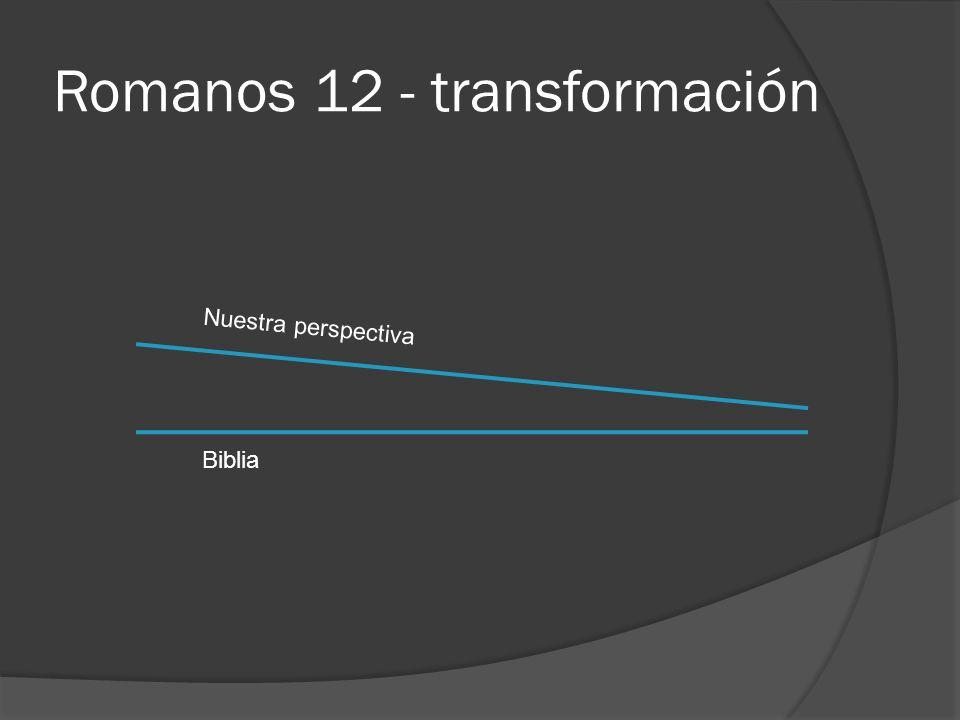Romanos 12 - transformación Biblia Nuestra perspectiva
