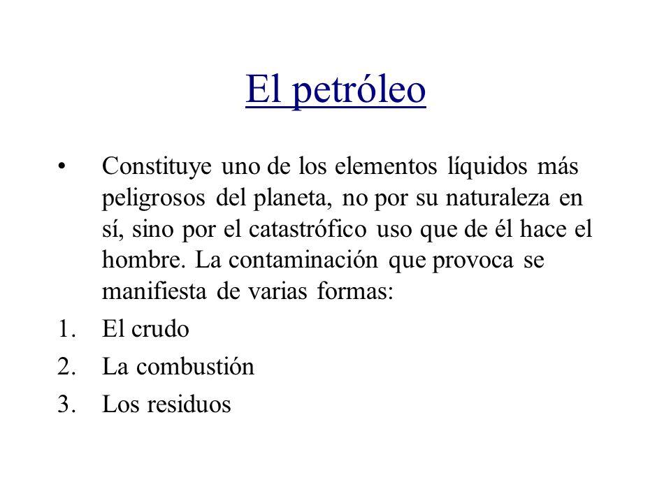El petróleo Constituye uno de los elementos líquidos más peligrosos del planeta, no por su naturaleza en sí, sino por el catastrófico uso que de él ha