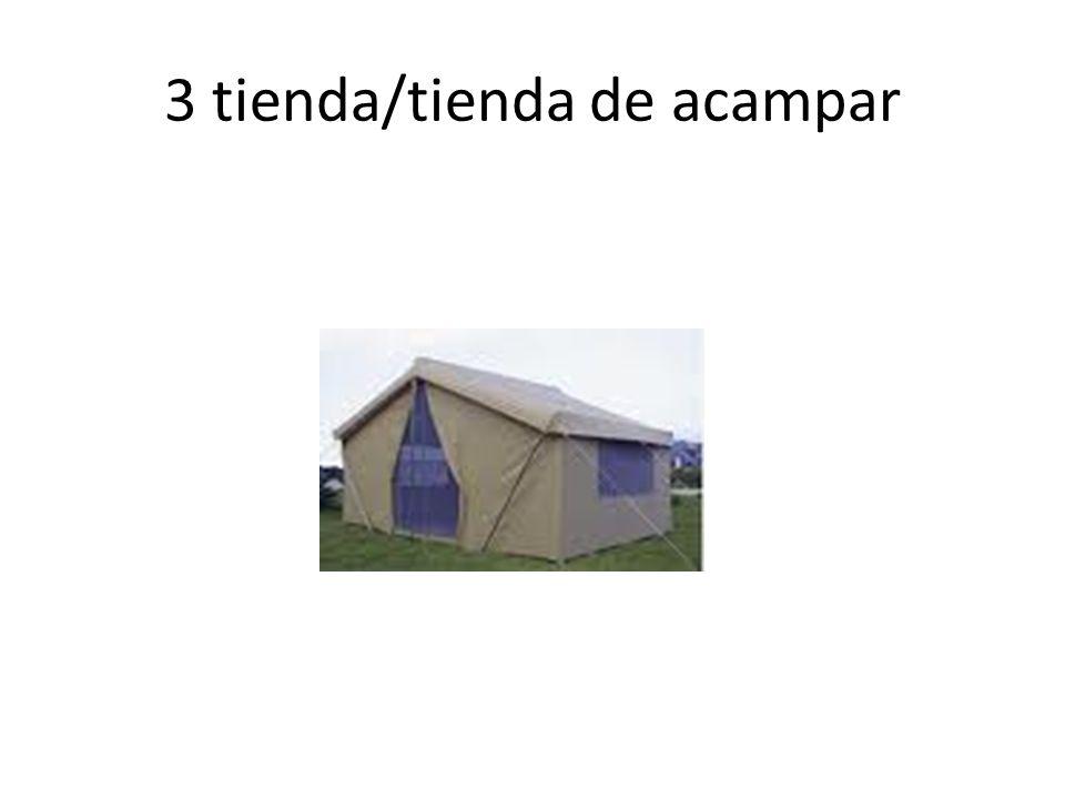 3 tienda/tienda de acampar