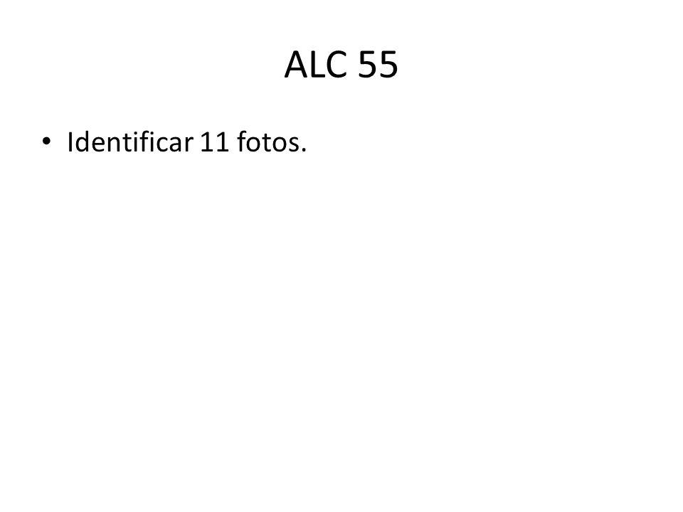 ALC 55 Identificar 11 fotos.