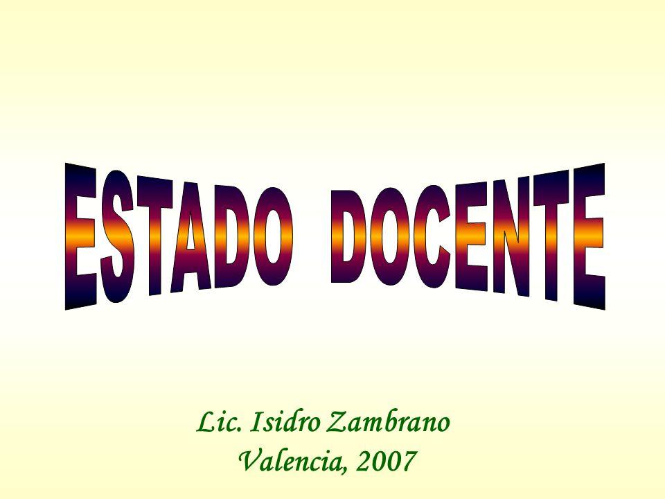 FILOSOFÍA EDUCATIVA DEL MODELO EDUCATIVO DE LA REVOLUCIÓN BOLIVARIANA COMO LA FILOSOFÍA DEL ESTADO-DOCENTE Concepto de Estado-Docente fue propuesto por primera vez en Venezuela por el maestro Luis Beltrán Prieto Figueroa (1946), en una conferencia dictada en la Escuela Normal Miguel Antonio Caro, para anunciar que el Estado debe ser el responsable supremo de la orientación general de la educación de la república.