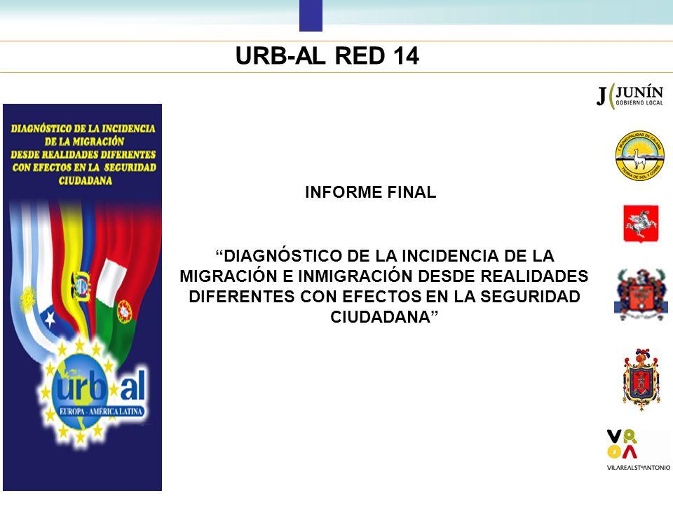 URB-AL RED 14 INFORME FINAL DIAGNÓSTICO DE LA INCIDENCIA DE LA MIGRACIÓN E INMIGRACIÓN DESDE REALIDADES DIFERENTES CON EFECTOS EN LA SEGURIDAD CIUDADA