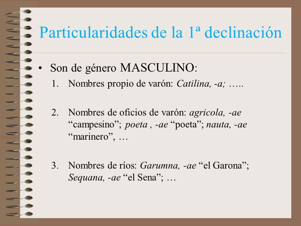 1ª DECLINACIÓN ROSA, -AE CASOSSINGULARPLURAL NOMINATIVO VOCATIVO ACUSATIVO GENITIVO DATIVO ABLATIVO ROS- AM ROS- A ROS- AE ROS- IS ROS- ARUM ROS- AS D