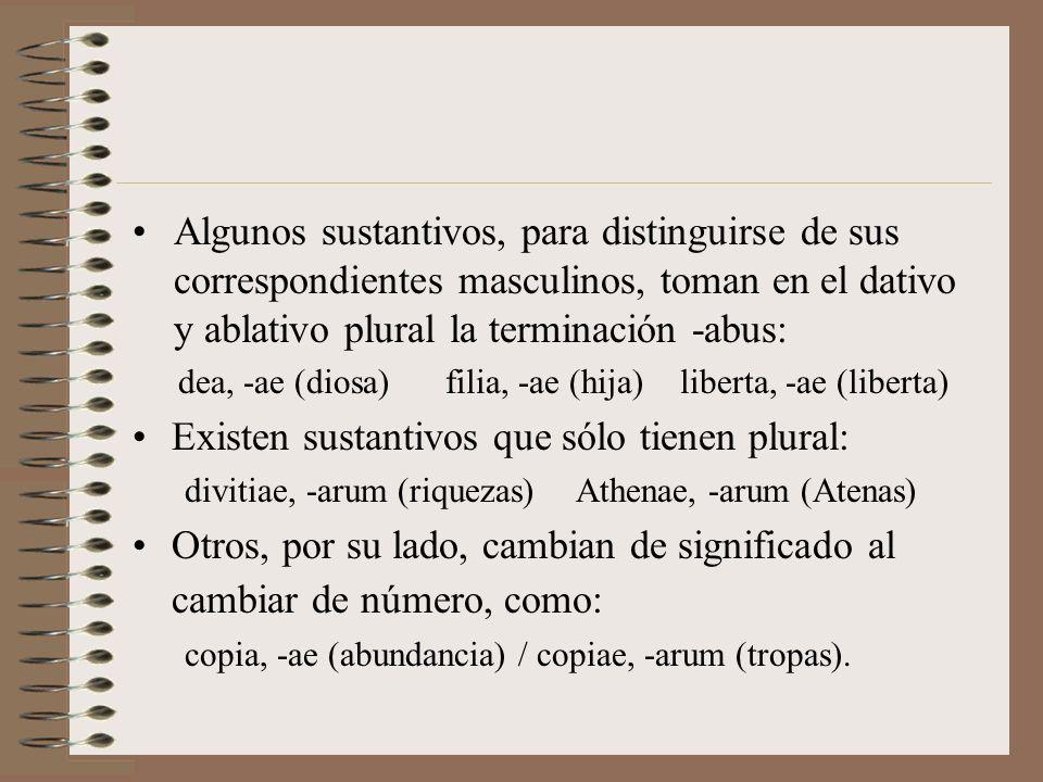 Particularidades de la 1ª declinación Son de género MASCULINO : 1.Nombres propio de varón: Catilina, -a; ….. 2.Nombres de oficios de varón: agricola,