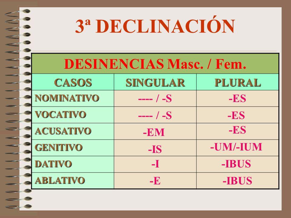 LABIAL(P, B) * NASAL (M )*, (N)+ SILBANTE (S) + NEUTRO * = Toman s en nominativo T.CONSONANTELIQUIDA(L, R) I M P A R I S Í L A B O S OCLUSIVADENTAL(T,