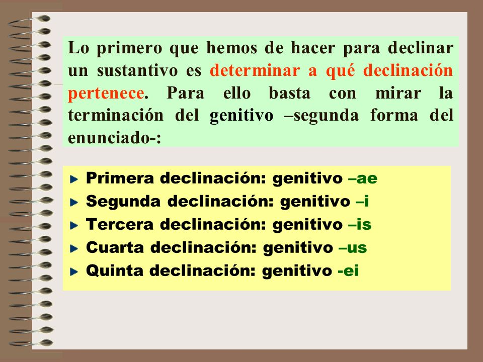 2ª DECLINACIÓN DOMINUS, -I Señor CASOSSINGULARPLURAL NOMINATIVO VOCATIVO ACUSATIVO GENITIVO DATIVO ABLATIVO DOMIN- UM DOMIN- E DOMIN- US DOMIN- O DOMIN- I DOMIN- O DOMIN- I DOMIN- IS DOMIN- ORUM DOMIN- OS Declinación de sustantivos generalmente masculinos.