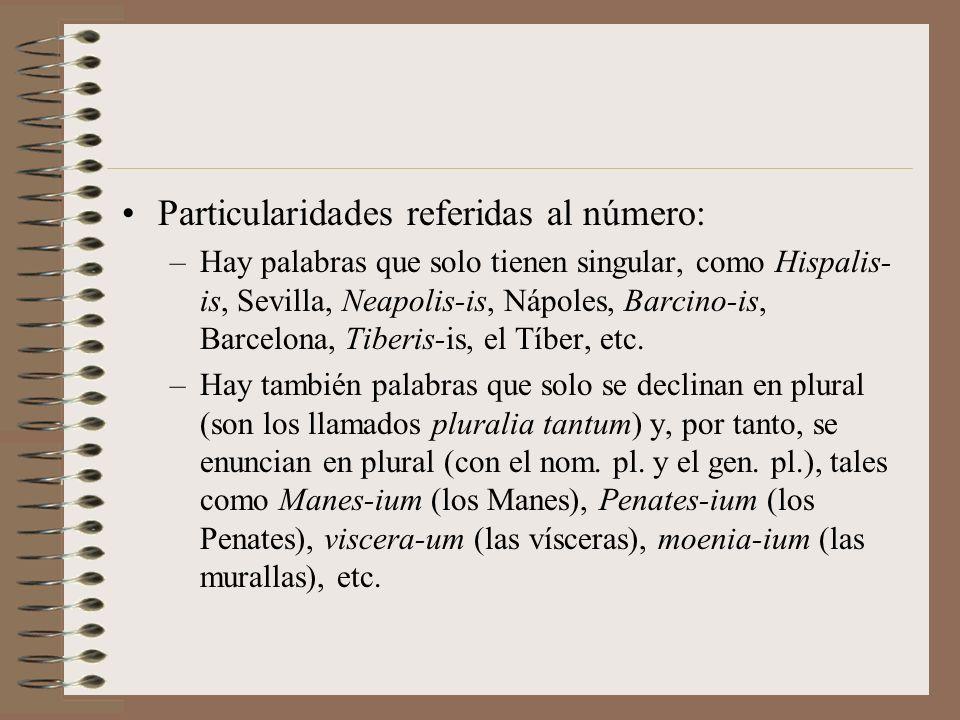 Particularidades de la 3ª declinación Algunos términos del campo semántico del parentesco presentan una e en el nominativo respecto del genitivo: mate