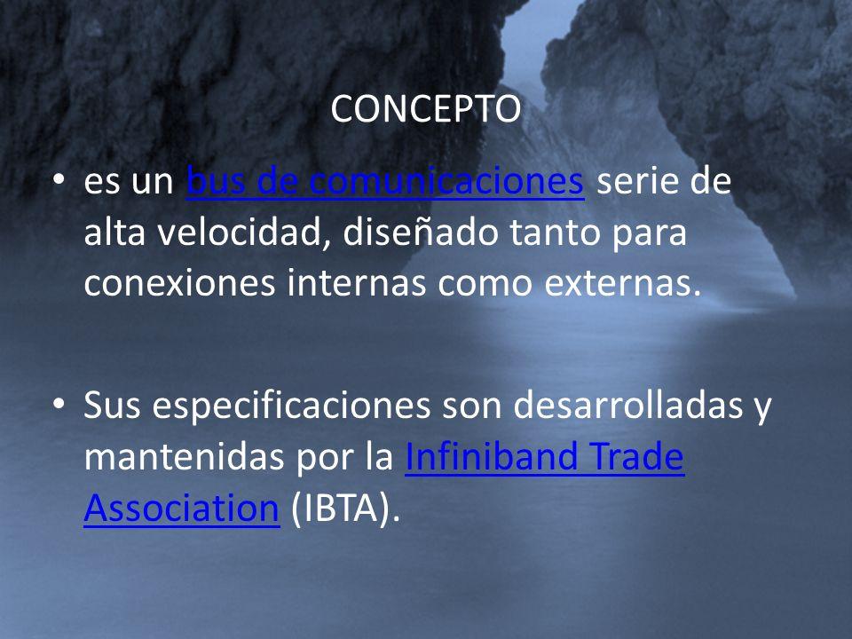 CONCEPTO es un bus de comunicaciones serie de alta velocidad, diseñado tanto para conexiones internas como externas.bus de comunicaciones Sus especifi