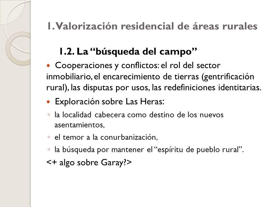 1. Valorización residencial de áreas rurales 1.2.