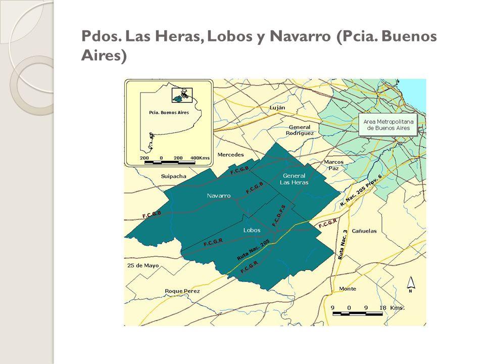 Pdos. Las Heras, Lobos y Navarro (Pcia. Buenos Aires)