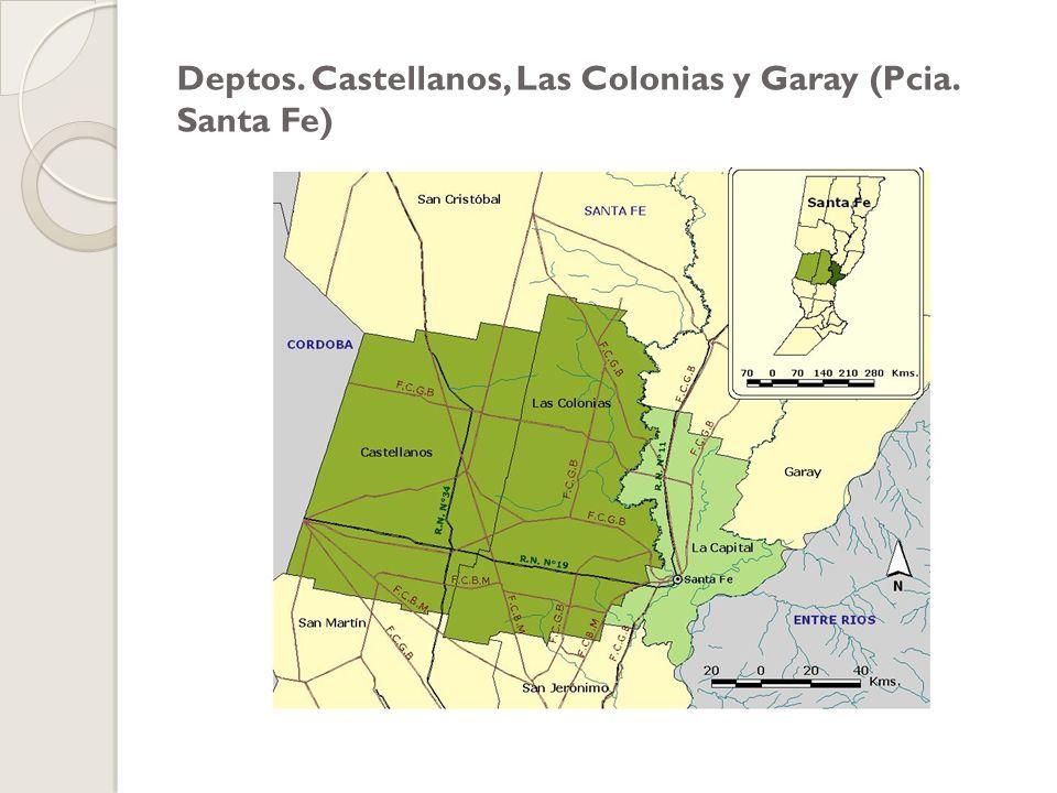 Deptos. Castellanos, Las Colonias y Garay (Pcia. Santa Fe)