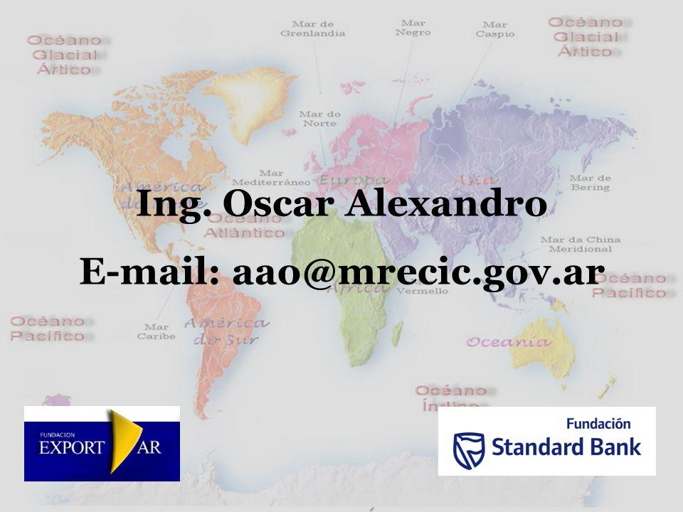 Ing. Oscar Alexandro E-mail: aao@mrecic.gov.ar