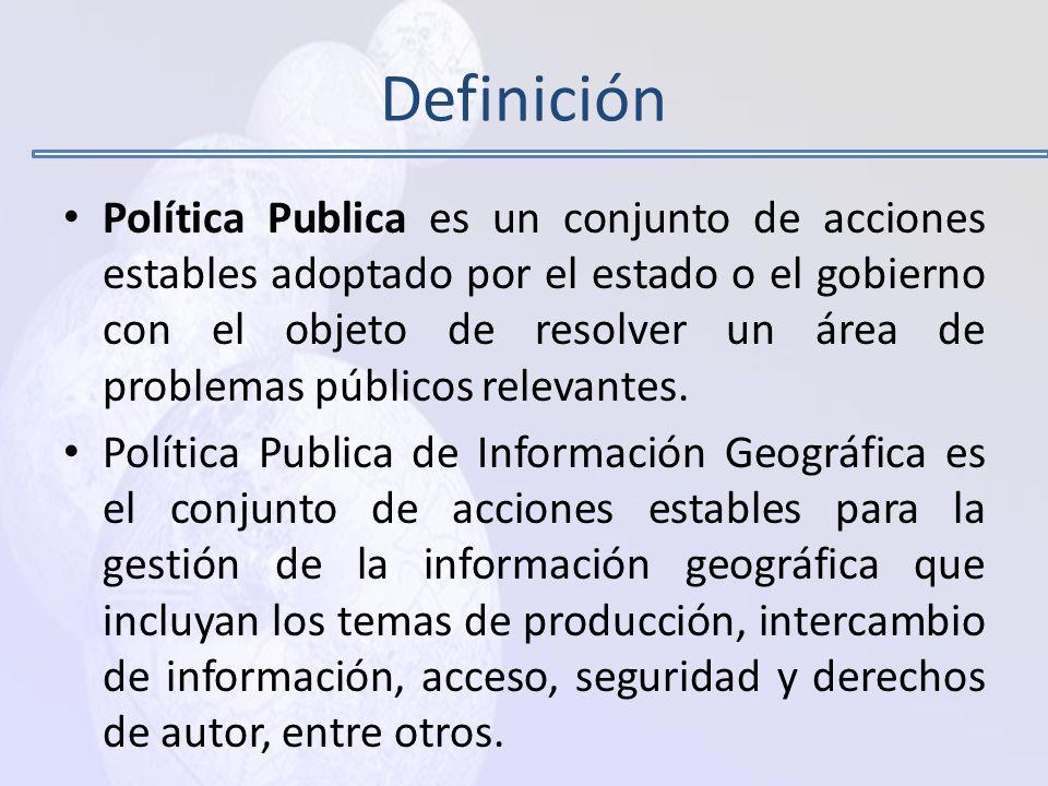3. Hacia la formulación de una política de Información Geográfica