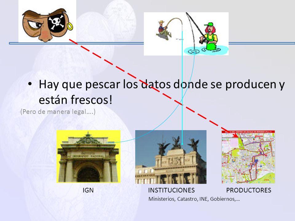 PRODUCIR INFORMACION GEOGRAFICA.. Y ACTUALIZARLA !!!!!