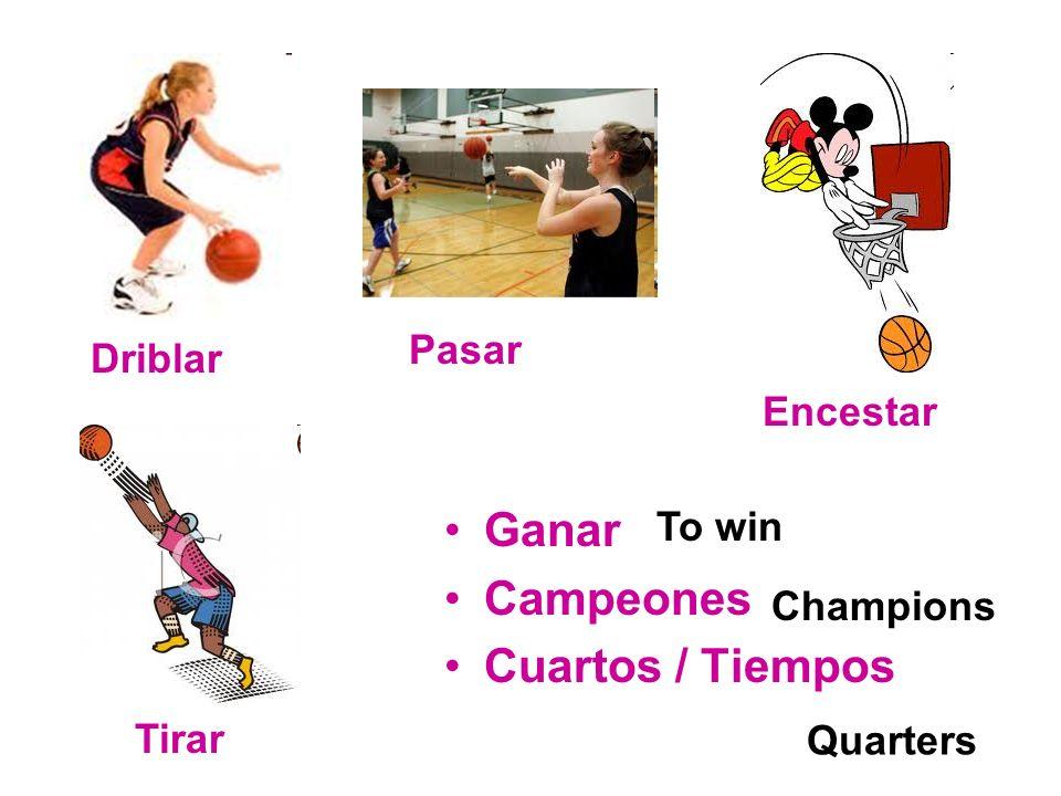 Ganar Campeones Cuartos / Tiempos Driblar Pasar Encestar Tirar To win Champions Quarters