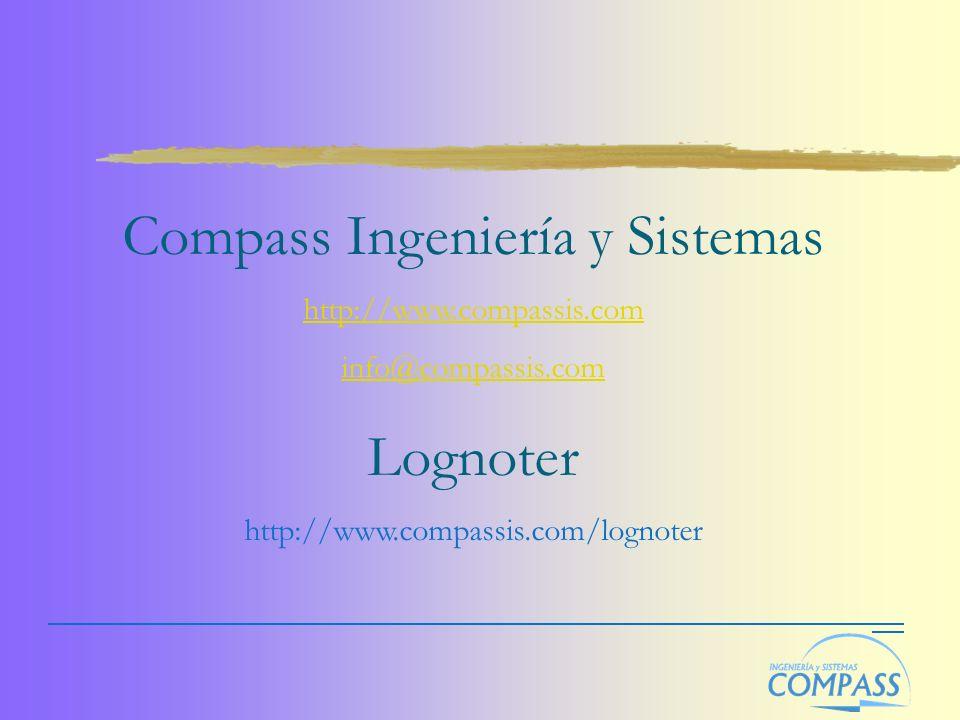 Compass Ingeniería y Sistemas http://www.compassis.com info@compassis.com Lognoter http://www.compassis.com/lognoter