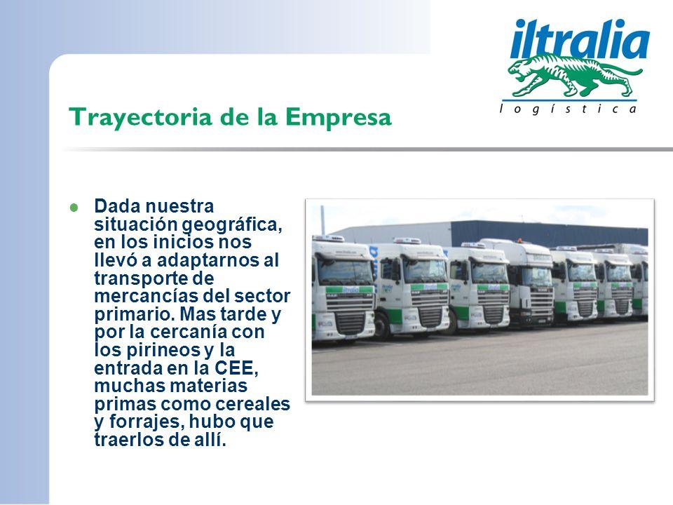 Trayectoria de la Empresa Dada nuestra situación geográfica, en los inicios nos llevó a adaptarnos al transporte de mercancías del sector primario. Ma