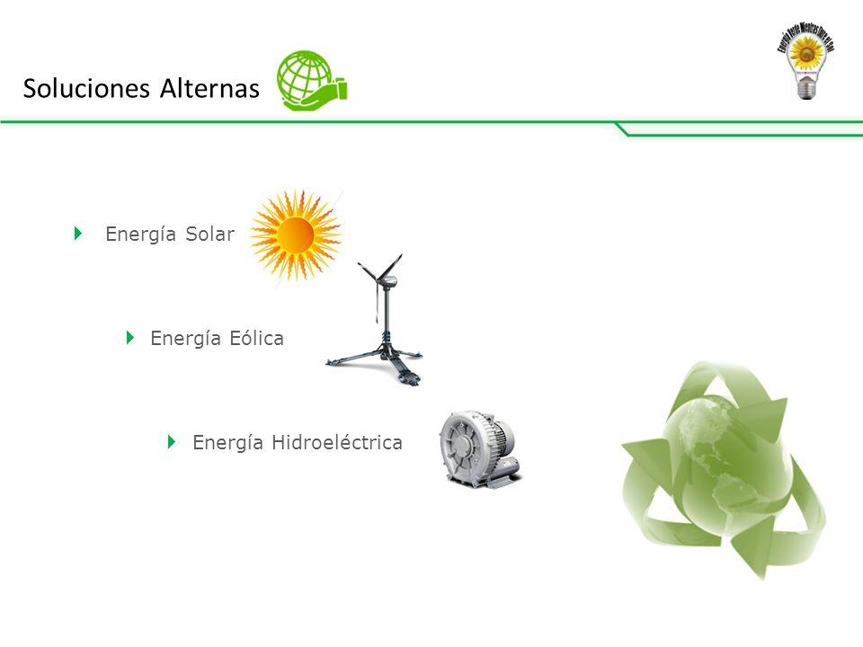 Soluciones Alternas Energía Solar Energía Eólica Energía Hidroeléctrica