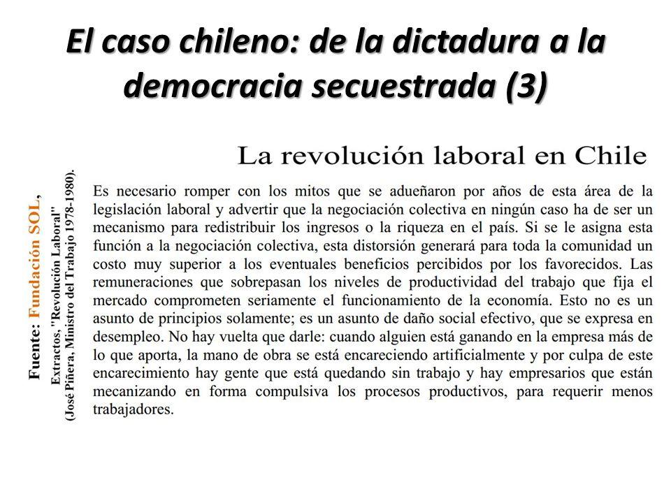 El caso chileno: de la dictadura a la democracia secuestrada (3)