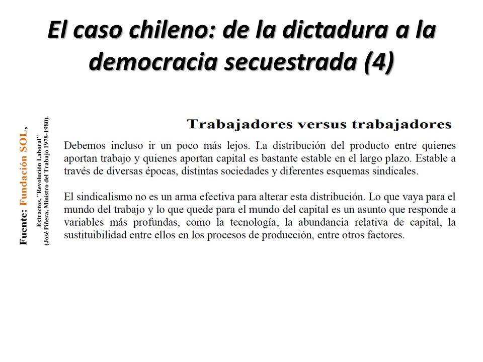 El caso chileno: de la dictadura a la democracia secuestrada (4)
