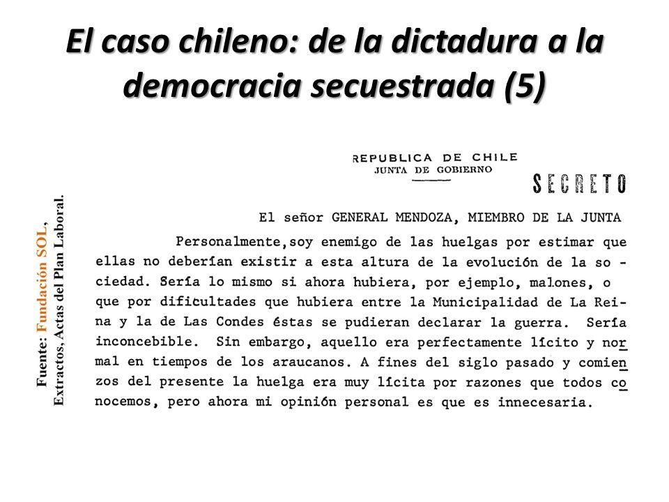 El caso chileno: de la dictadura a la democracia secuestrada (5)