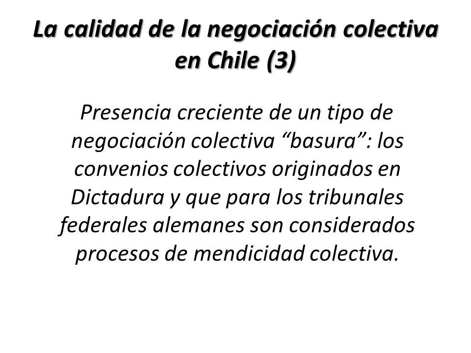La calidad de la negociación colectiva en Chile (3) Presencia creciente de un tipo de negociación colectiva basura: los convenios colectivos originado