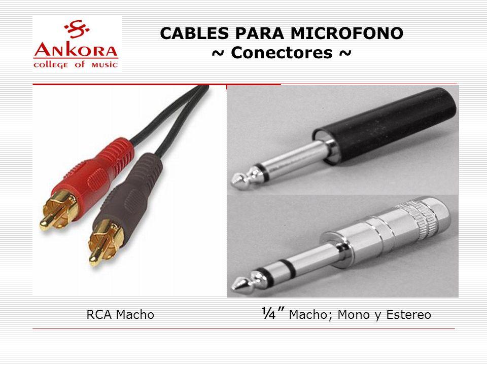 CABLES PARA MICROFONO Cables Balanceados Los cables de audio balanceados utilizan una tercera línea extra.