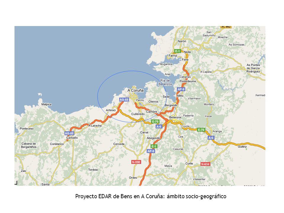 Proyecto EDAR de Bens en A Coruña: ámbito socio-geográfico