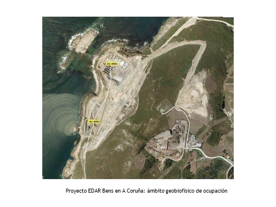 Proyecto EDAR Bens en A Coruña: ámbito geobiofísico de ocupación