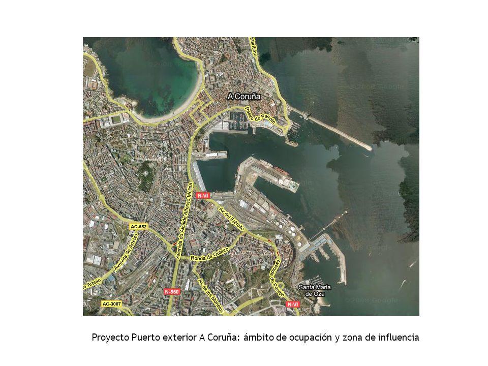 Proyecto Puerto exterior A Coruña: ámbito de ocupación y zona de influencia