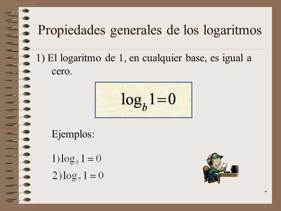 Algunas calculadoras permiten obtener directamente los logaritmos en cualquier base, pero la mayoría solo permite el cáculo de LOGARITMOS DECIMALES, e