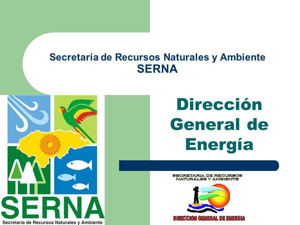 Dirección General de Energía Secretaría de Recursos Naturales y Ambiente SERNA