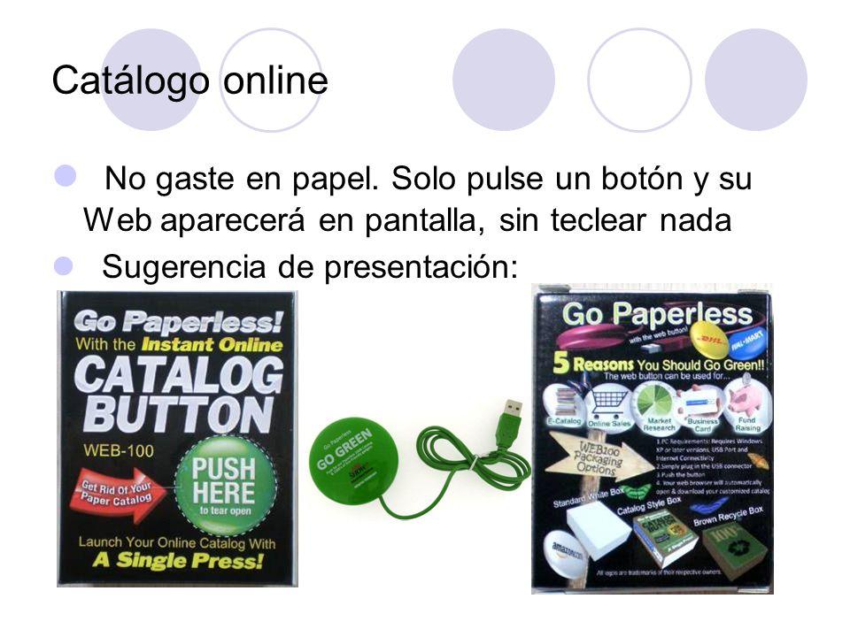 Catálogo online No gaste en papel.