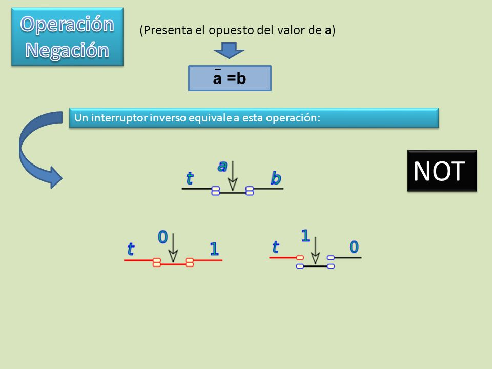 Se dice que una variable tiene valor booleano cuando, en general, la variable contiene un 0 lógico o un 1 lógico.
