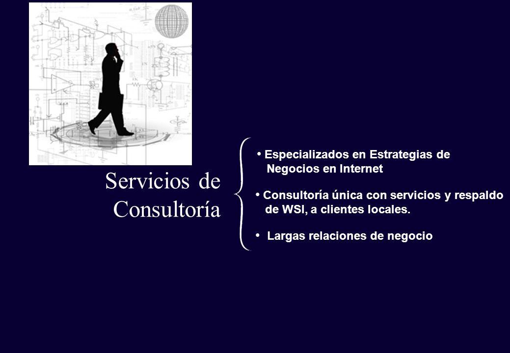 Servicios de Consultoría Especializados en Estrategias de Negocios en Internet Consultoría única con servicios y respaldo de WSI, a clientes locales.