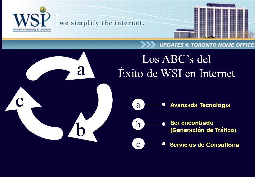 Avanzada Tecnología a b c Los ABCs del Èxito de WSI en Internet a Ser encontrado (Generación de Tráfico) Servicios de Consultoría b c