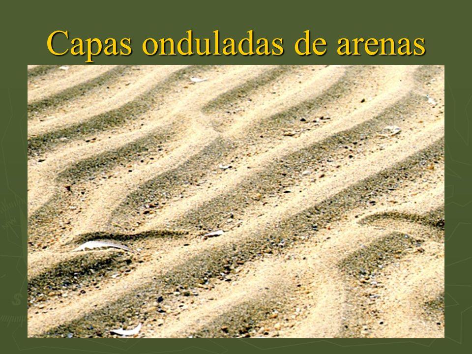 Capas onduladas de arenas