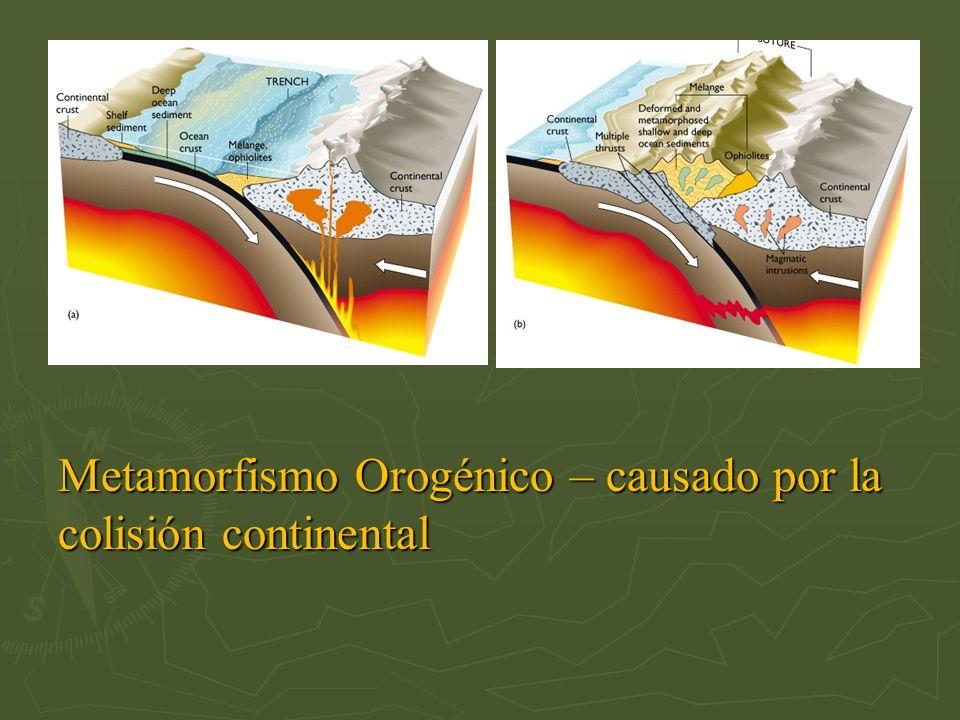 Metamorfismo Orogénico – causado por la colisión continental