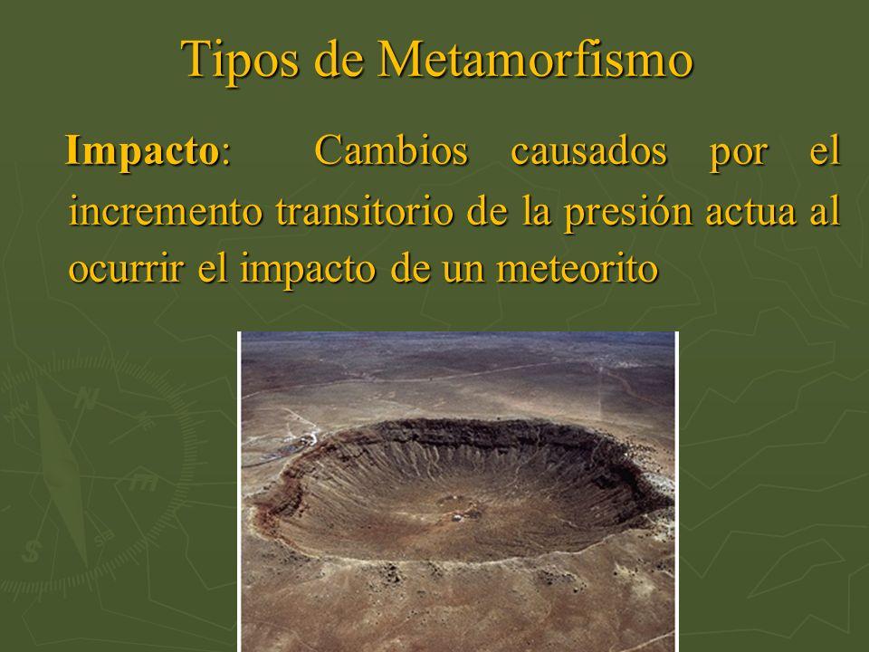 Impacto: Cambios causados por el incremento transitorio de la presión actua al ocurrir el impacto de un meteorito Impacto: Cambios causados por el inc