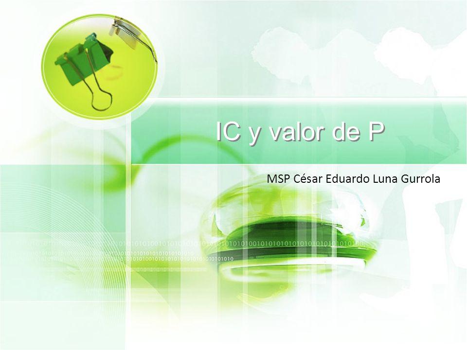 IC y valor de P MSP César Eduardo Luna Gurrola