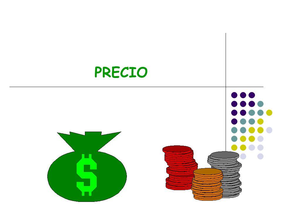 Otros elementos de la mezcla de marketing Otros ingredientes de la mezcla de marketing influyen de manera considerable en el precio base de un producto.