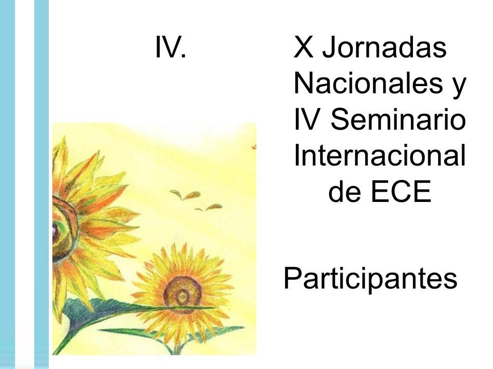 IV.X Jornadas Nacionales y IV Seminario Internacional de ECE Participantes