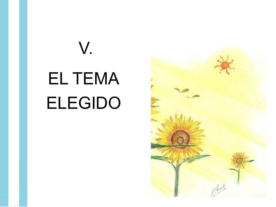 V. EL TEMA ELEGIDO