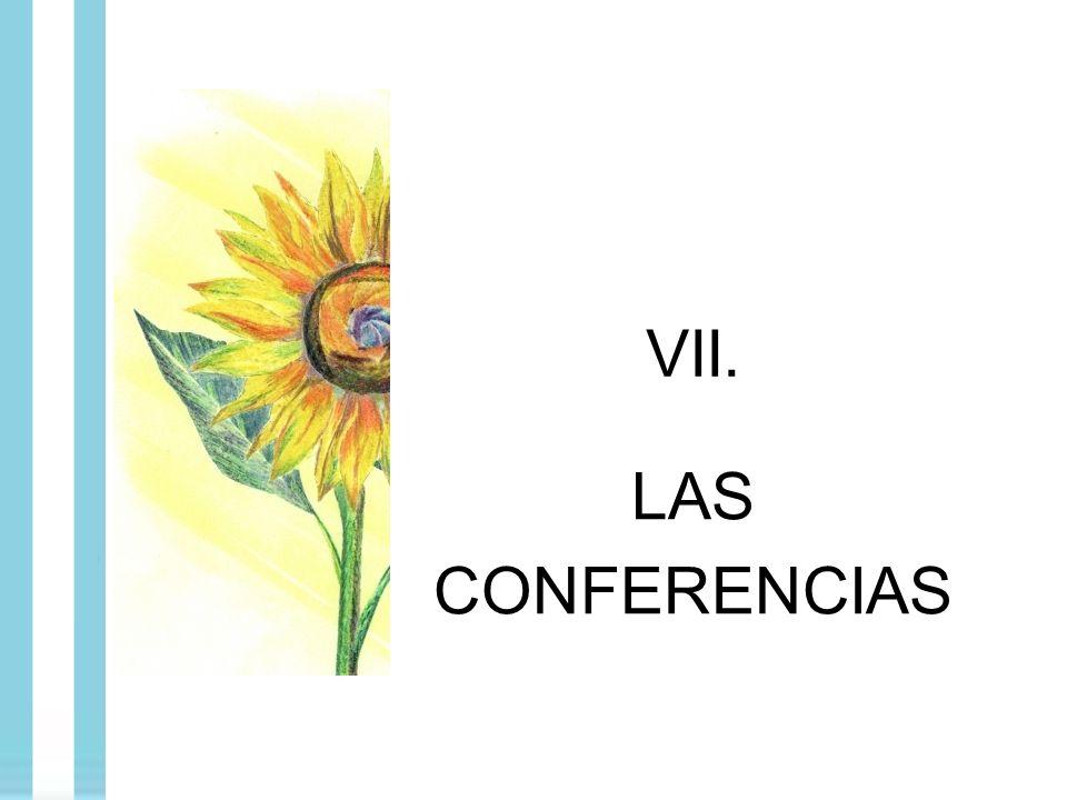 VII. LAS CONFERENCIAS