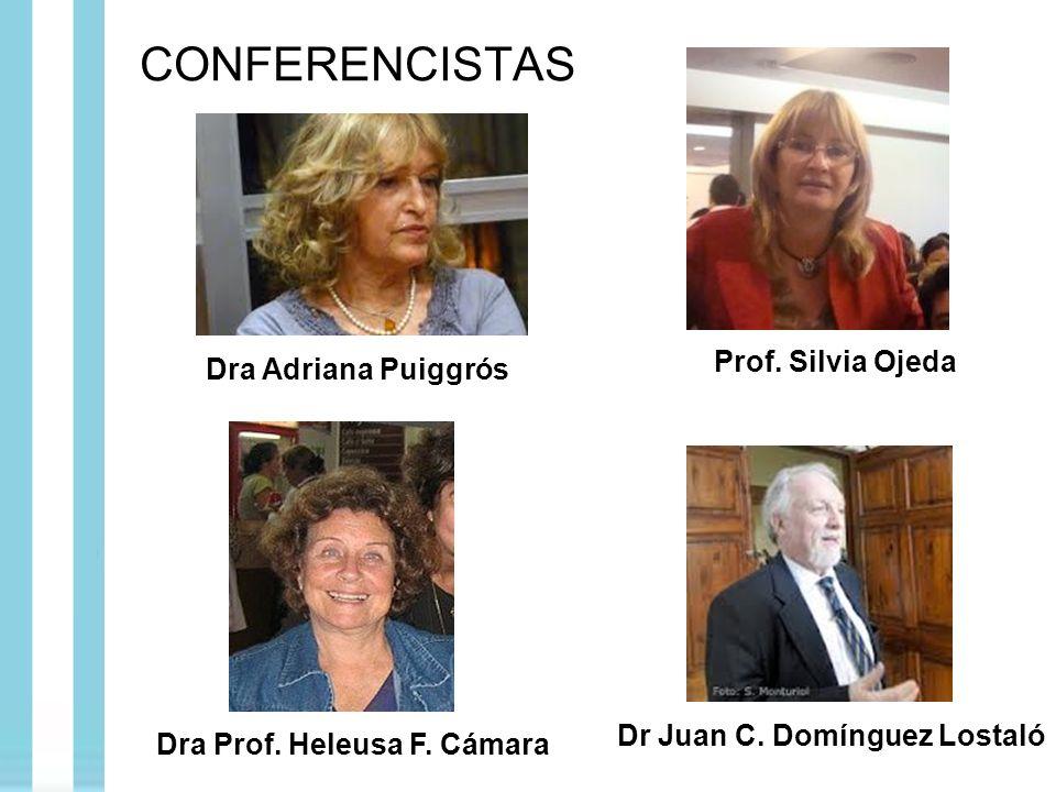 CONFERENCISTAS Dra Adriana Puiggrós Prof. Silvia Ojeda Dra Prof. Heleusa F. Cámara Dr Juan C. Domínguez Lostaló